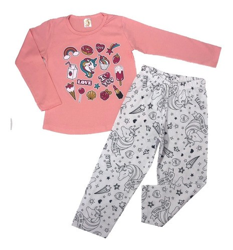Kit C/20 Pijamas Infantil De Menina Divertido - Revenda Já!