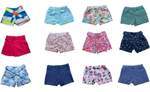 Kit Lote 10 Shorts Divertidos