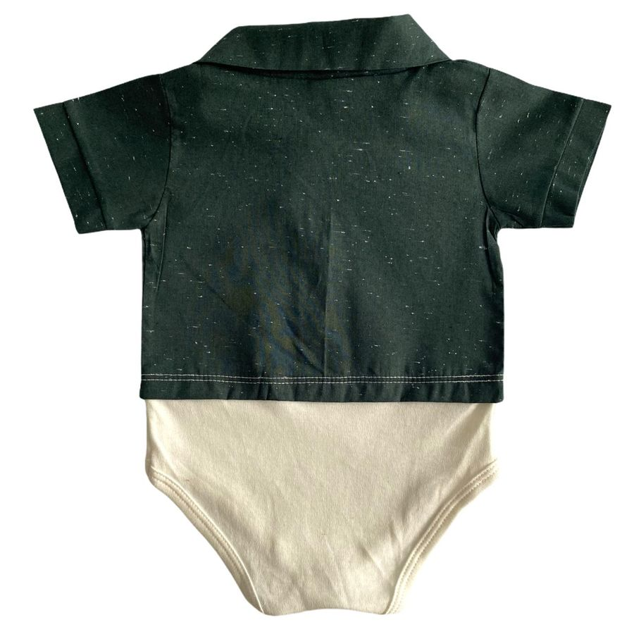 Body Camisa Social Bebê Estampas Variadas