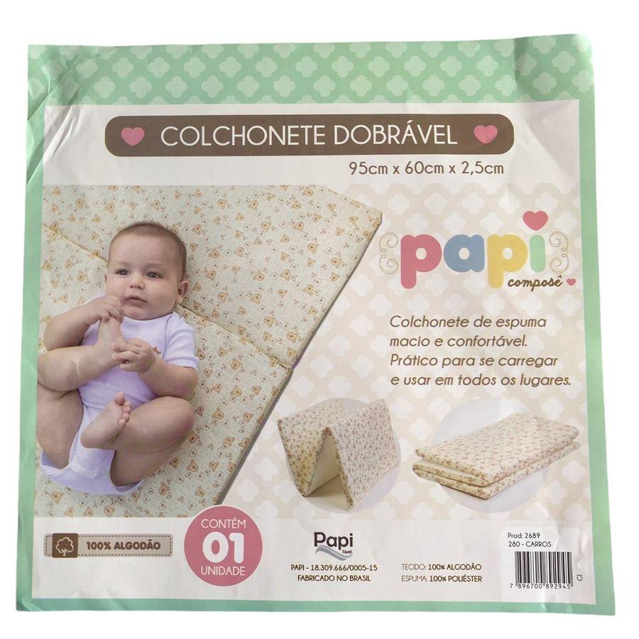 Colchonete Dobrável Bebê 95cm x 60cm x 2,5cm