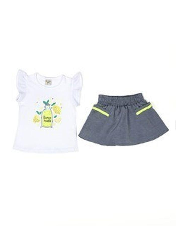 Conjunto Blusa e Saia Shorts