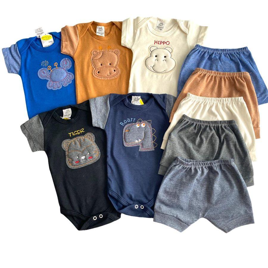 Conjunto Body e Shorts 6 Peças