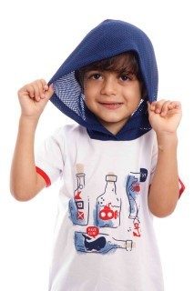 Conjunto Camiseta e Bermuda de Sarja