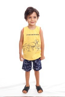 Conjunto Camiseta e Shorts Dinossauro