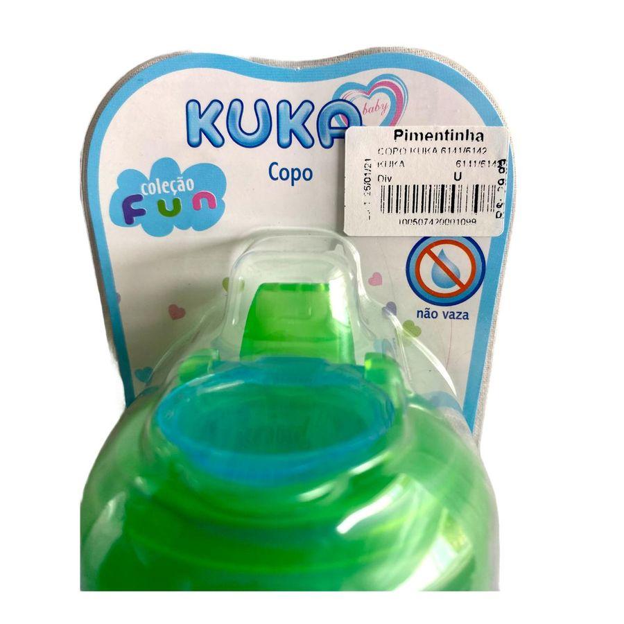Copo Fun Kuka 330 ml Bico Antivazamento Capuz Protetor Silicone