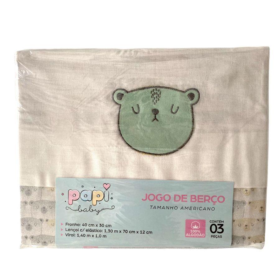 Kit de Berço Bebê Jogo de Lençol, Travesseiro e Almofada de Pescoço p/ Carro