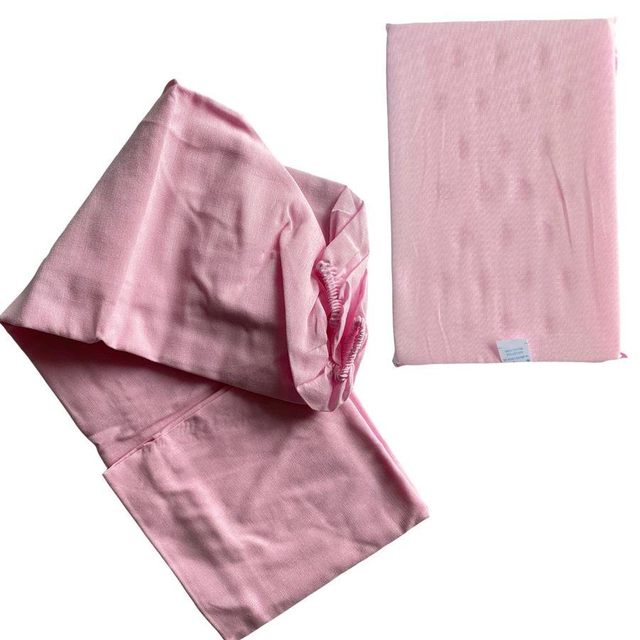 Kit Lençol Tam. Americano, Travesseiro e Fralda Pinte e Borde