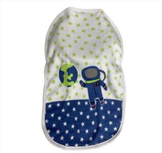 Pano de Boca Bebê Estampado Colibri pra Menina ou Menino 3 peças