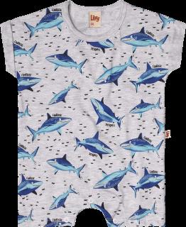 Macacão Bebê Shark Menino