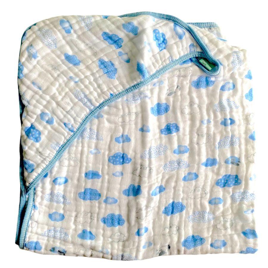 Toalha de Banho Soft com Capuz Bebê 80 x 80 cm Papi