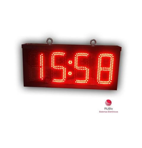 Cronômetro / Relógio eletrônico de led FACE DUPLA