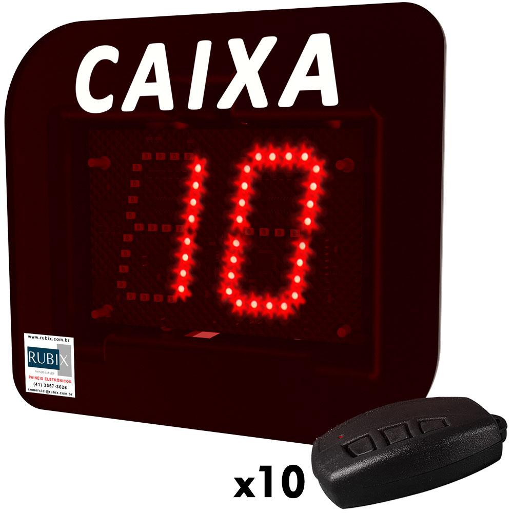 Kit Painel eletrônico de led Caixa Livre – 10 caixas.