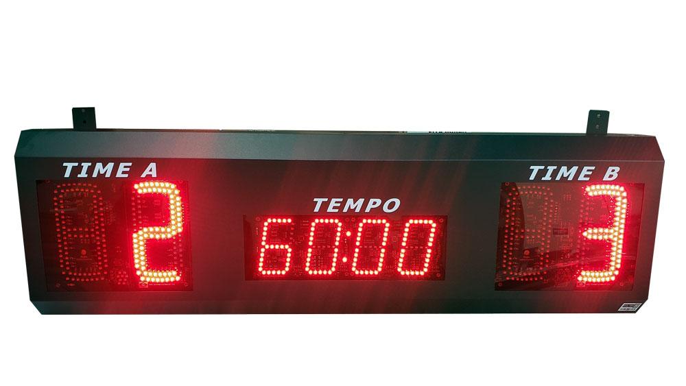Placar eletrônico de led para futebol society