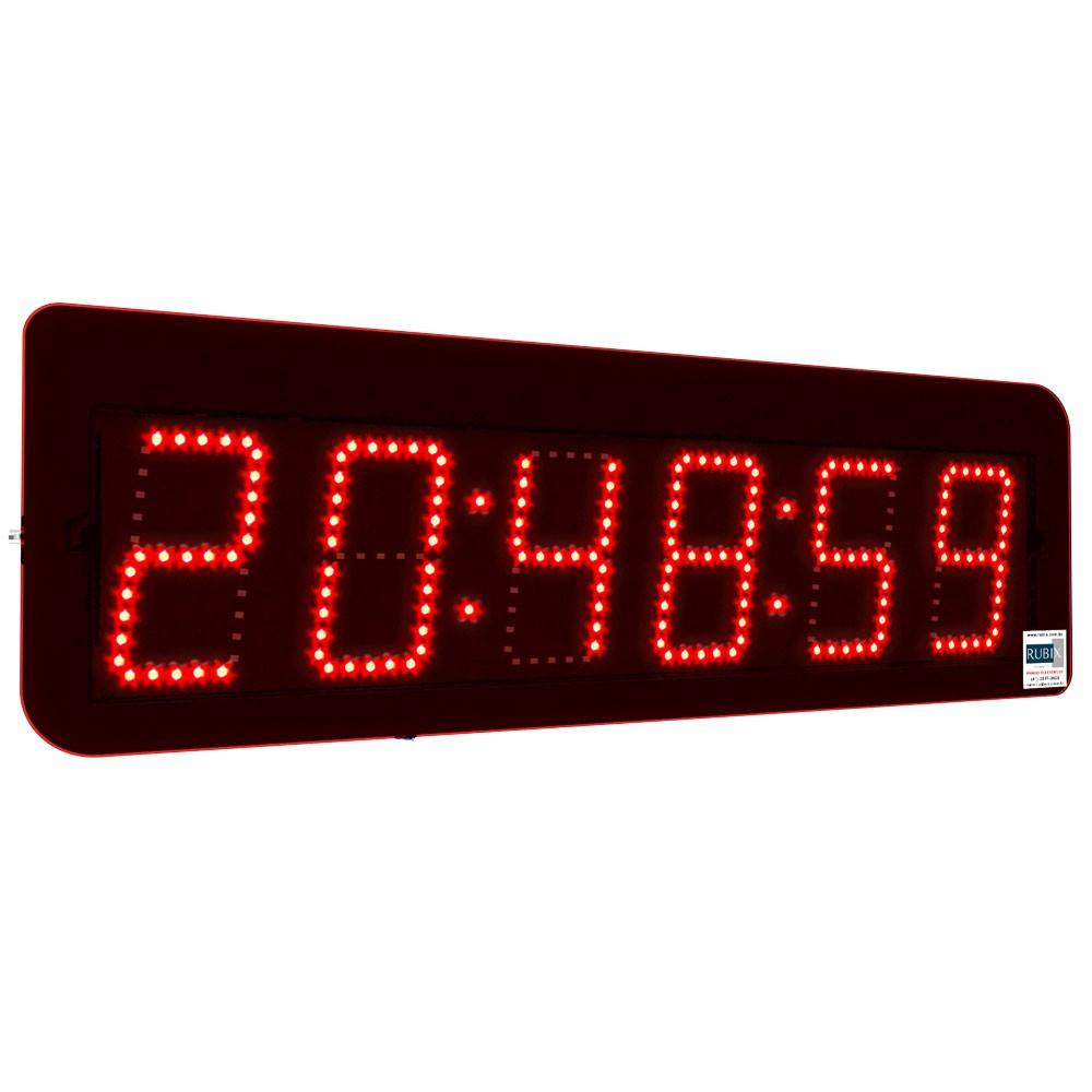 Relógio eletrônico de led com Hora:Minuto:Segundos e Cronômetro