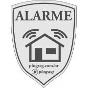 Placa de PVC Advertência Alarme