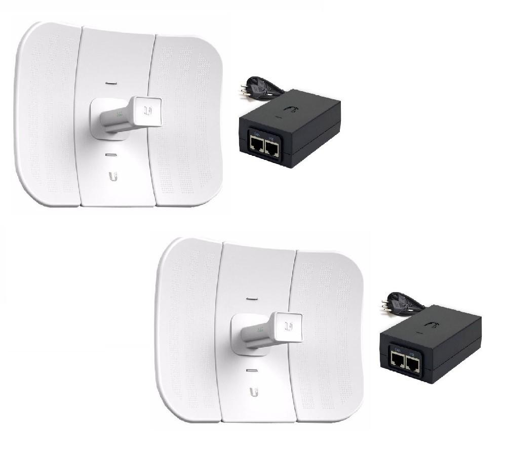 2 Antenas Ubiquiti LiteBeam M5 Lbe 5.8ghz 23dbi Com Fonte Poe