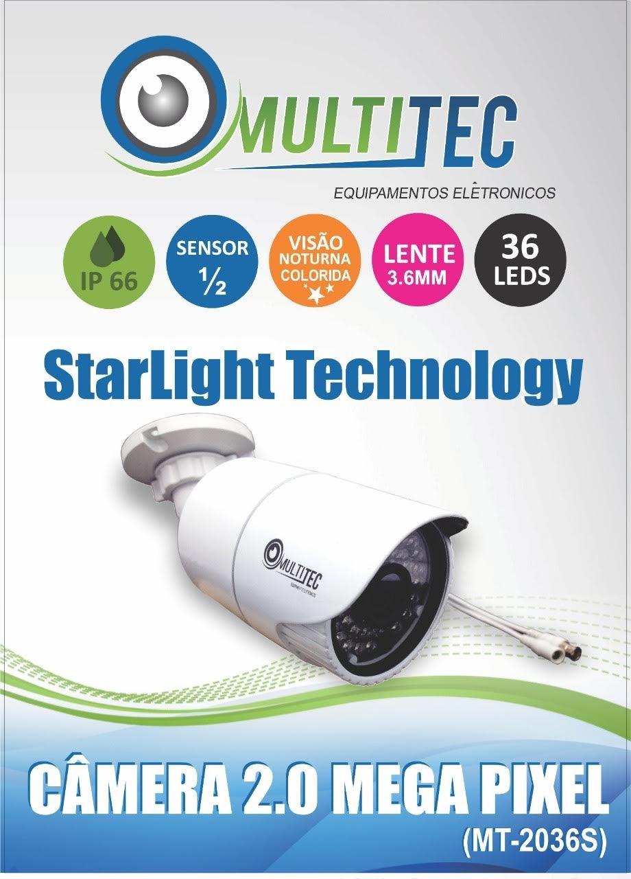 Câmera De Segurança Starlight Full Hd 1080p 2mp