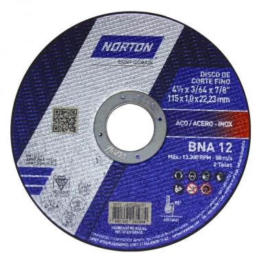 Disco de Corte Metal e Inox 4.1/2 X 1.0 X 22.23 BNA12 Norton