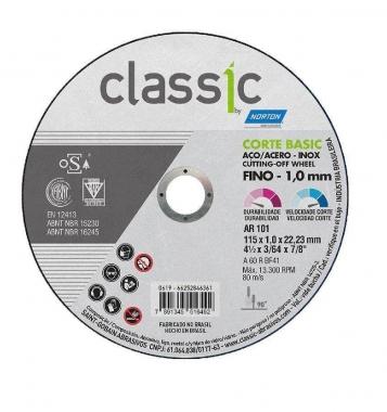 Disco de Corte Metal e Inox 4.1/2 X 1.0 X 22.23 Classic Norton