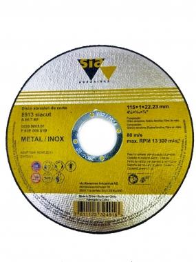 """Disco de Corte Metal e Inox 4"""" x 1 x 22.23mm 8913 SIA"""