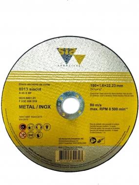 """Disco de Corte Metal e Inox 7"""" x 1,6 x 22,23mm 8913 SIA"""