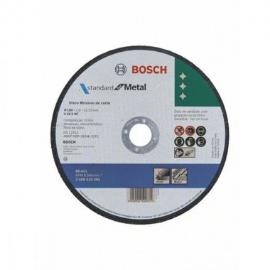 Disco de Corte Metal e Inox STD 180 x 1,6 x 22,23 mm