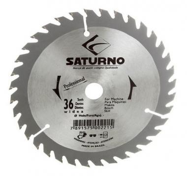 """Disco de Serra de Videa para Madeira 250mm X 36D 10"""" 3,2 Saturno"""