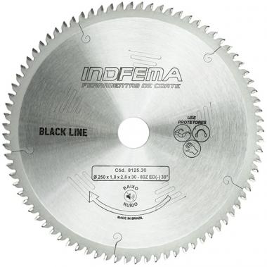 Disco de Serra de Videa para MDF 250 X 80D ALT Baixo Ruído 8125.30 INDFEMA