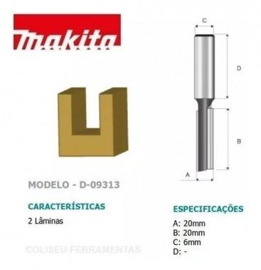 Fresa Paralela Dupla Haste 6MM Corte 20MM D-09313 Makita
