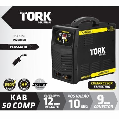 Inversora Corte Plasma 50A Compressor Embutido 7100W PLC-9050 TORK 220V