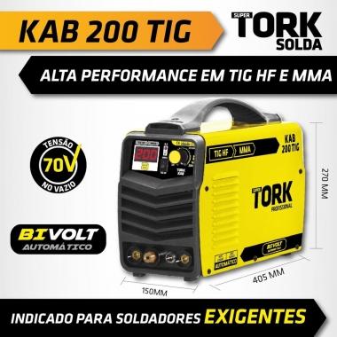 Máquina De Solda Inversora 200A Tig/lift MMA KAB 200 TIG ITE-8200 Bivolt