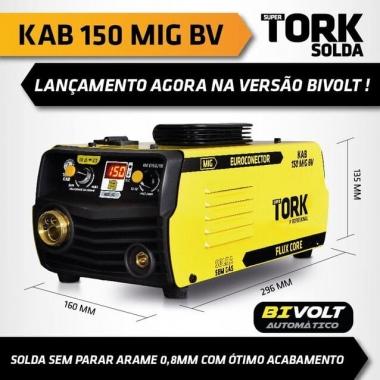 Máquina de  Solda Inversora Mig Sem Gás Kab 150a IM-6150/1K Bivolt TORK