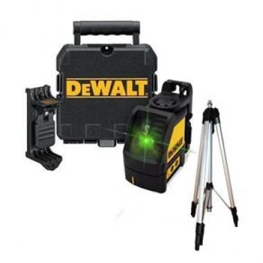 Nível a Laser Verde com Suporte e Maleta DW088CG-LA DEWALT Com Tripé
