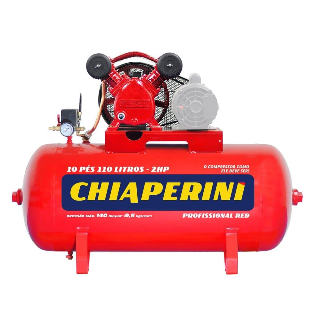 Compressor de Ar 10 Pés 110 Litros Monofásico 110/220V 10/110RED