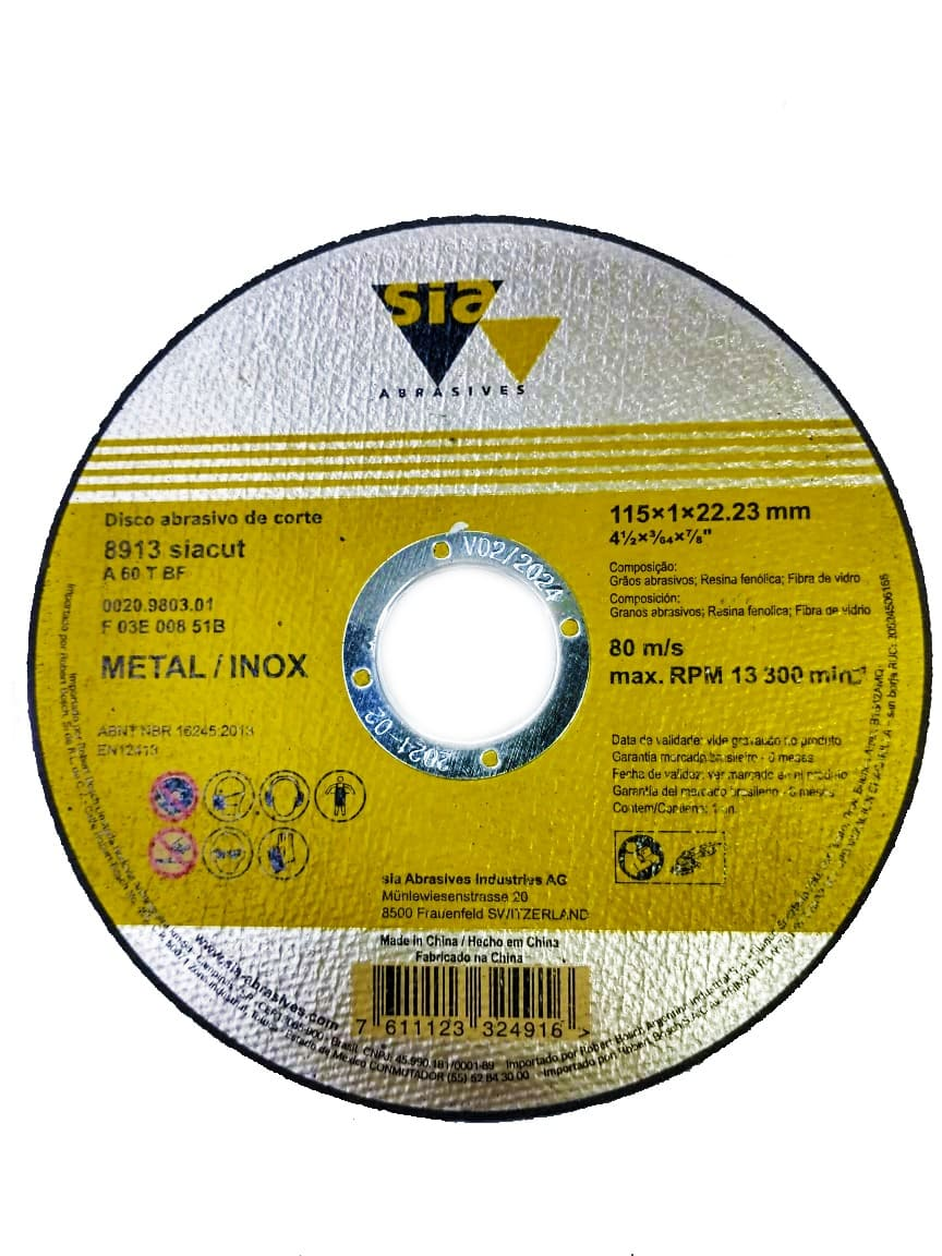 Disco de Corte Metal e Inox 4