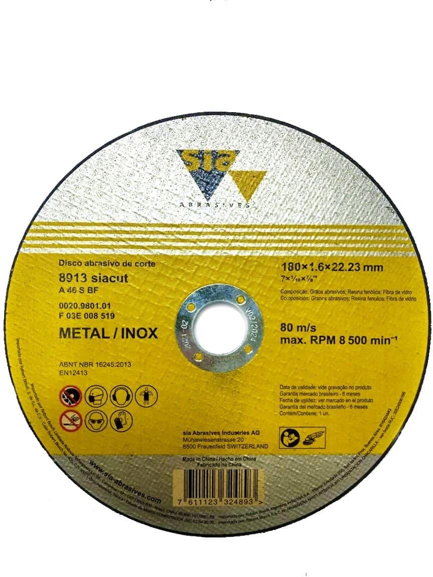 Disco de Corte Metal e Inox 7