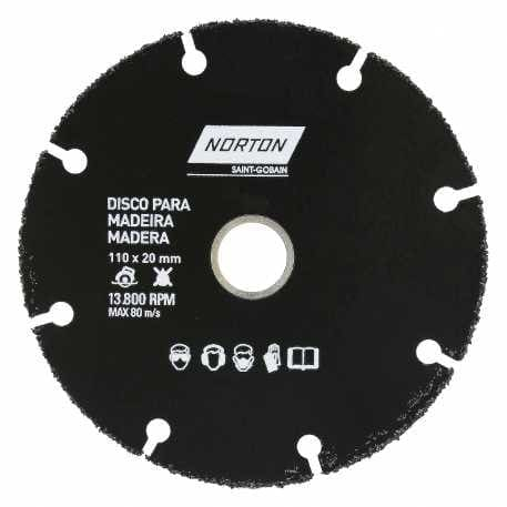 Disco de Corte Para Madeira Tungstenio 110X20mm NORTON