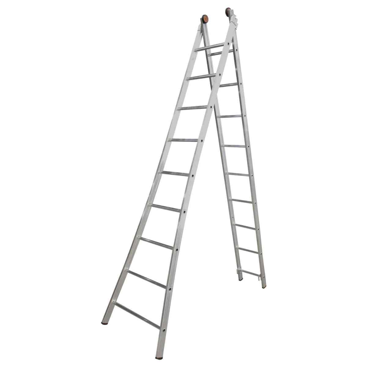 Escada Alumínio Extensível 9 Degraus Alulev ED109
