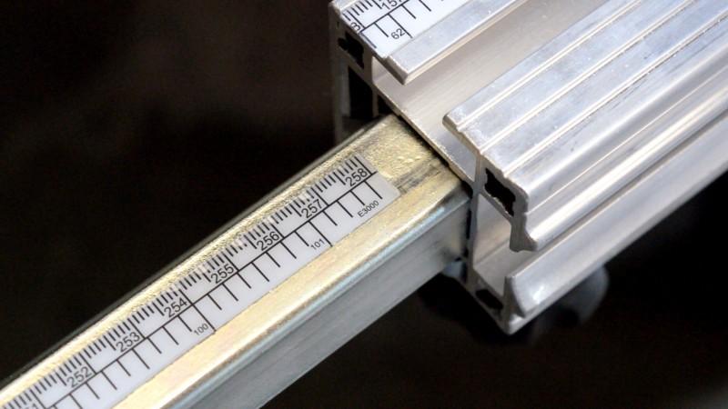Escala Inox Para Esquadrejadeira 12,50mm 246,00 A 1452,00mm INMES
