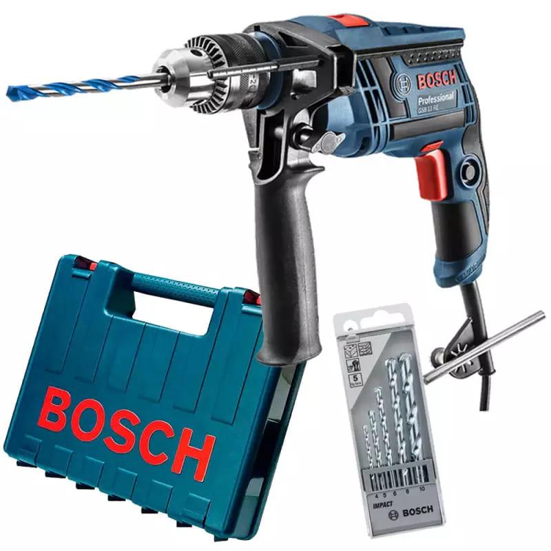 Furadeira de Impacto Bosch 1/2 650W GSB 13 RE C/ Kit Brocas 127V