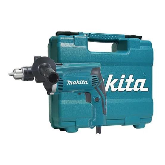 Furadeira de Impacto Makita 1/2 710W HP1630KX3 220V Com Maleta e Kit Exclusivo de Acessórios