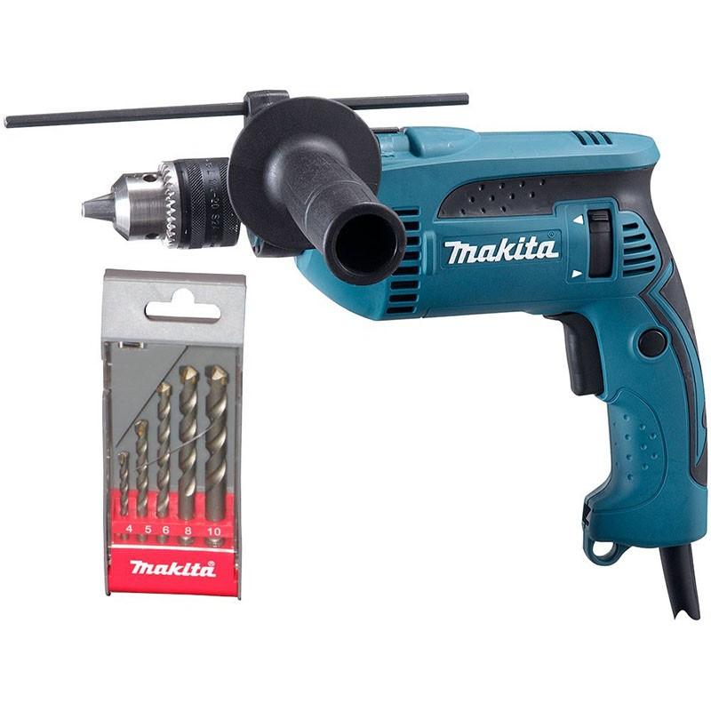 Furadeira de Impacto Makita 1/2 760w HP1640 220V Com Kit Brocas de Brinde