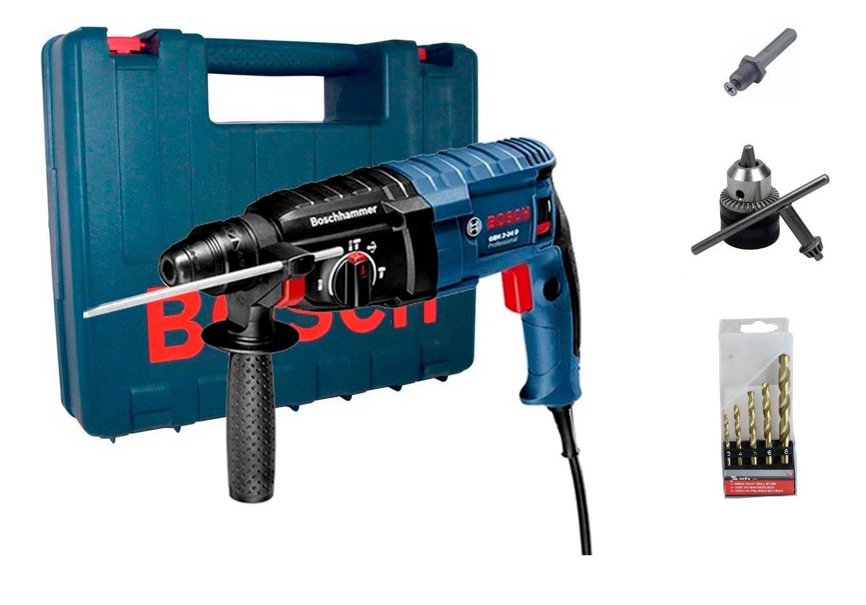 Martelete Perfurador Rompedor Bosch GBH 2-24D 220V Com Acessórios