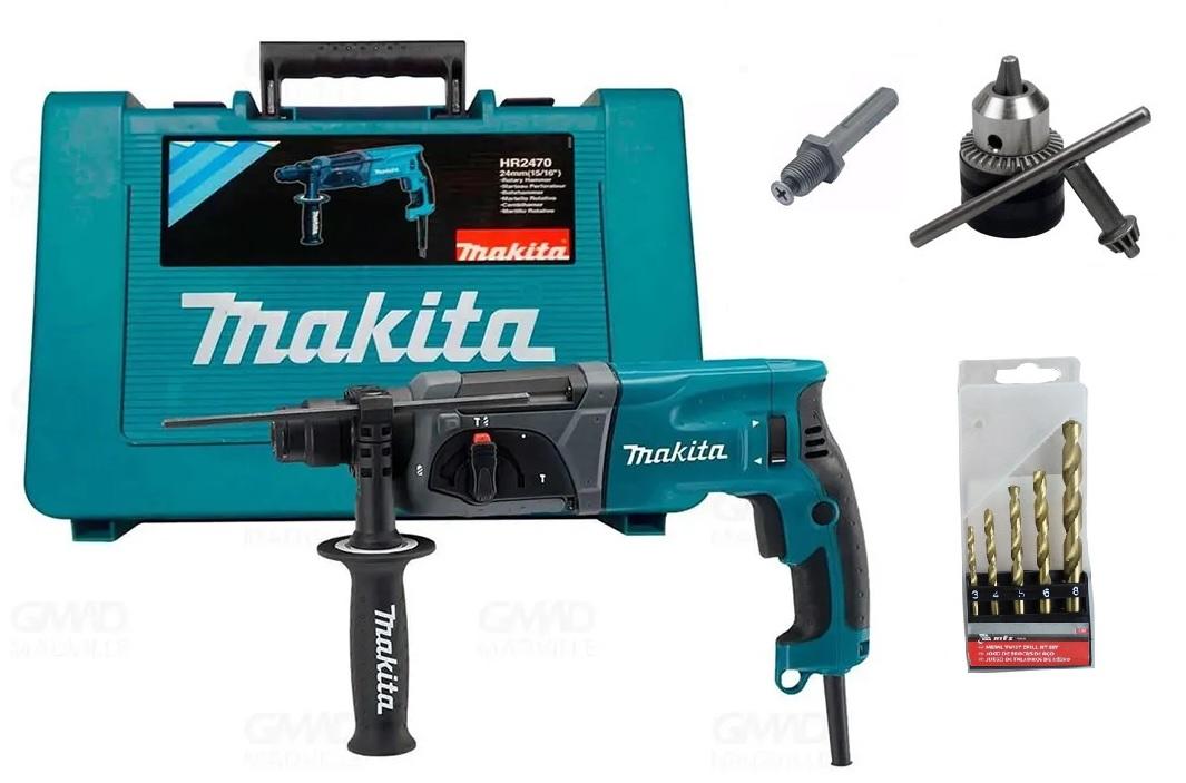 Martelete Perfurador Rompedor Makita HR2470 220V Com Acessórios
