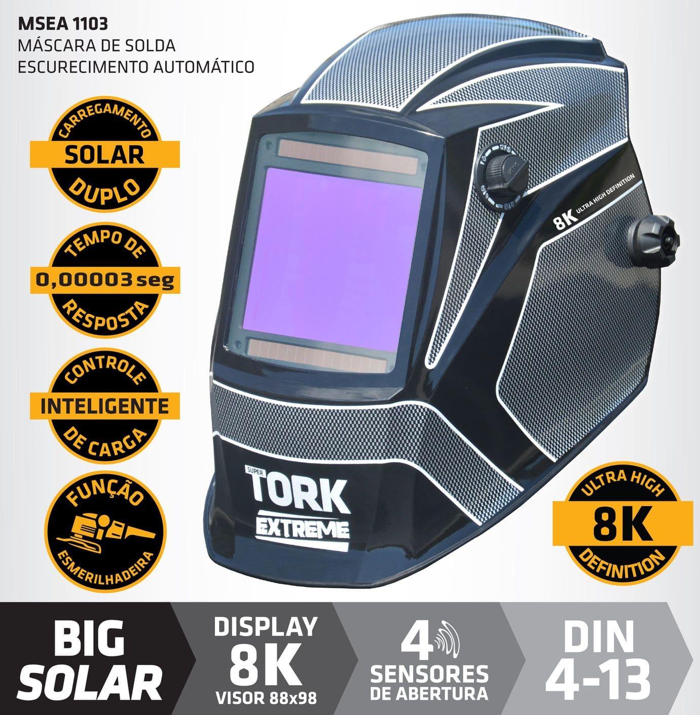Máscara de Solda MSEA-1103 SUPER TORK EXTREME