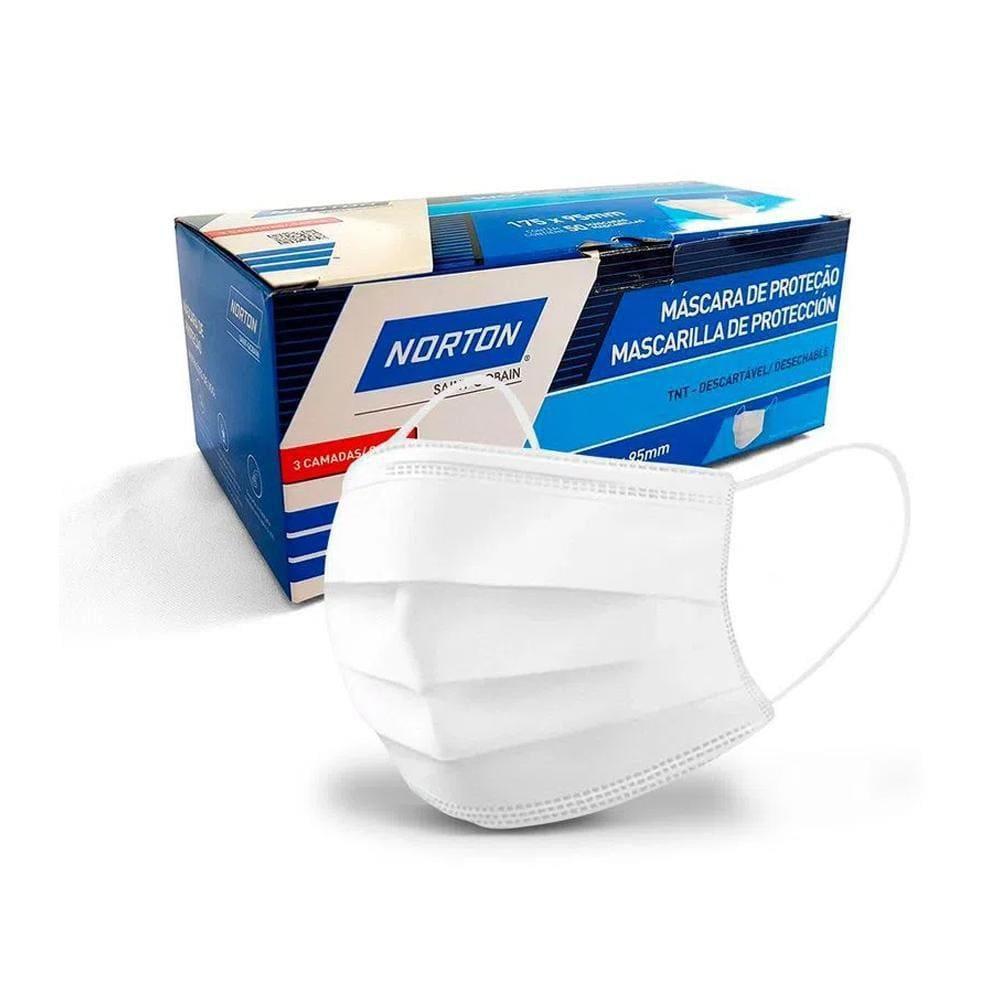 Mascara Descartável TNT NORTON Embalagem com 10