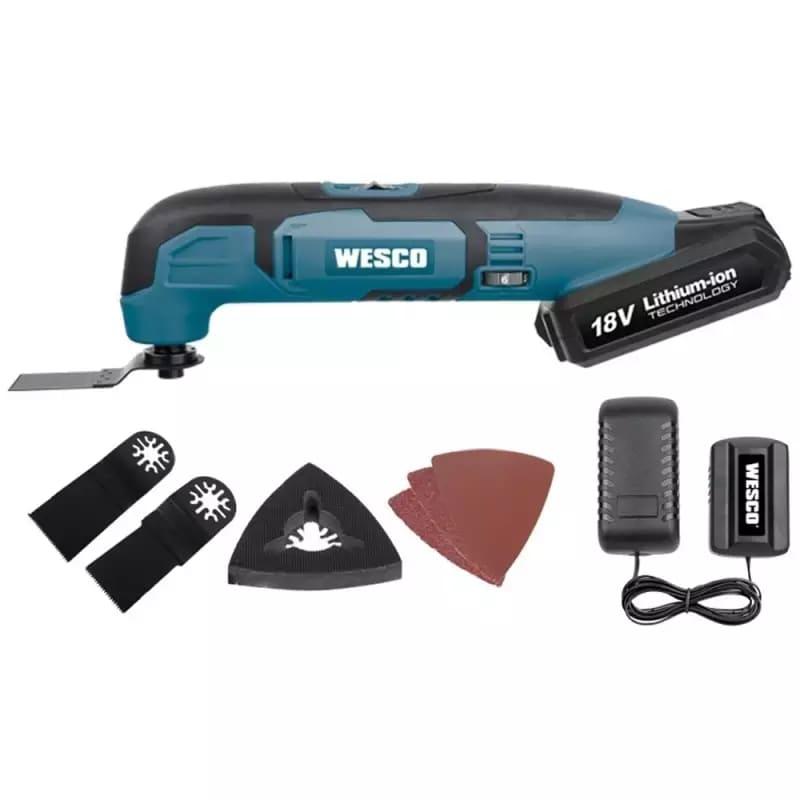 Multiferramenta Oscilante à Bateria 18V Bivolt com Kit Acessórios WS2932 Wesco