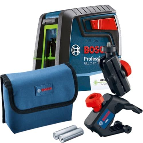 Nível a Laser 2 Linhas Verde Bosch GLL 2-12G