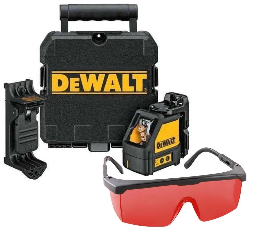 Nível a Laser Vermelho com Suporte e Maleta DW088K DEWALT Com Óculos Vermelho