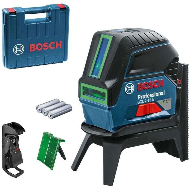 Nivel Laser 2 linhas e ponto Verde Bosch GCL 2-15G